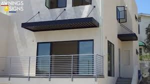 These wall mounted canopies are perfect cantilevered awnings for commercial or residential use. & Hanger Rod Canopies | Au0026A Awnings